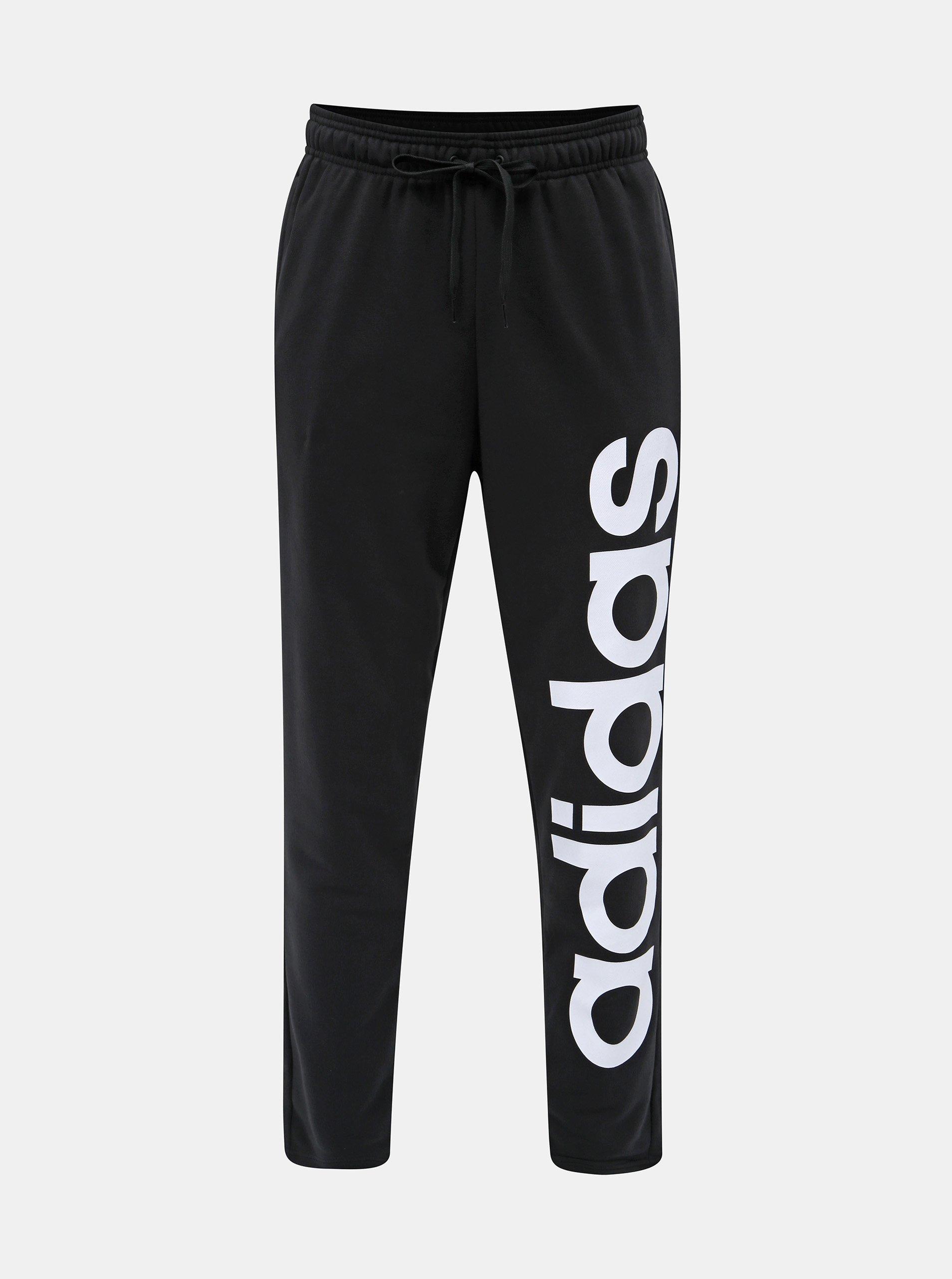 Černé pánské tepláky s potiskem adidas CORE Brand