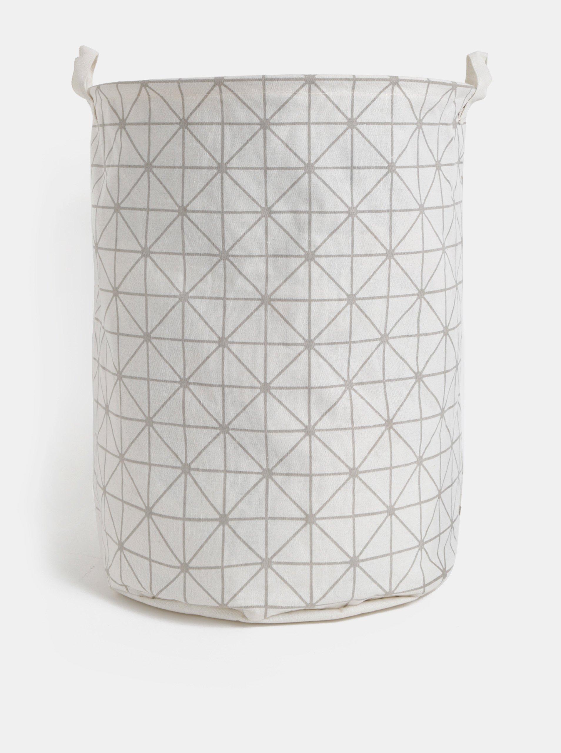 Krémový vzorovaný kôš na prádlo SIFCON