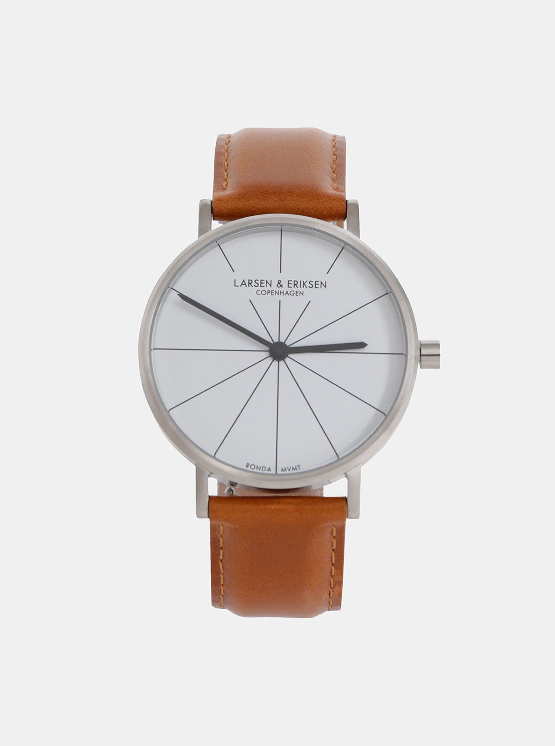 0b0f8a1c6 Pánske hodinky s hnedým koženým remienkom LARSEN & ERIKSEN