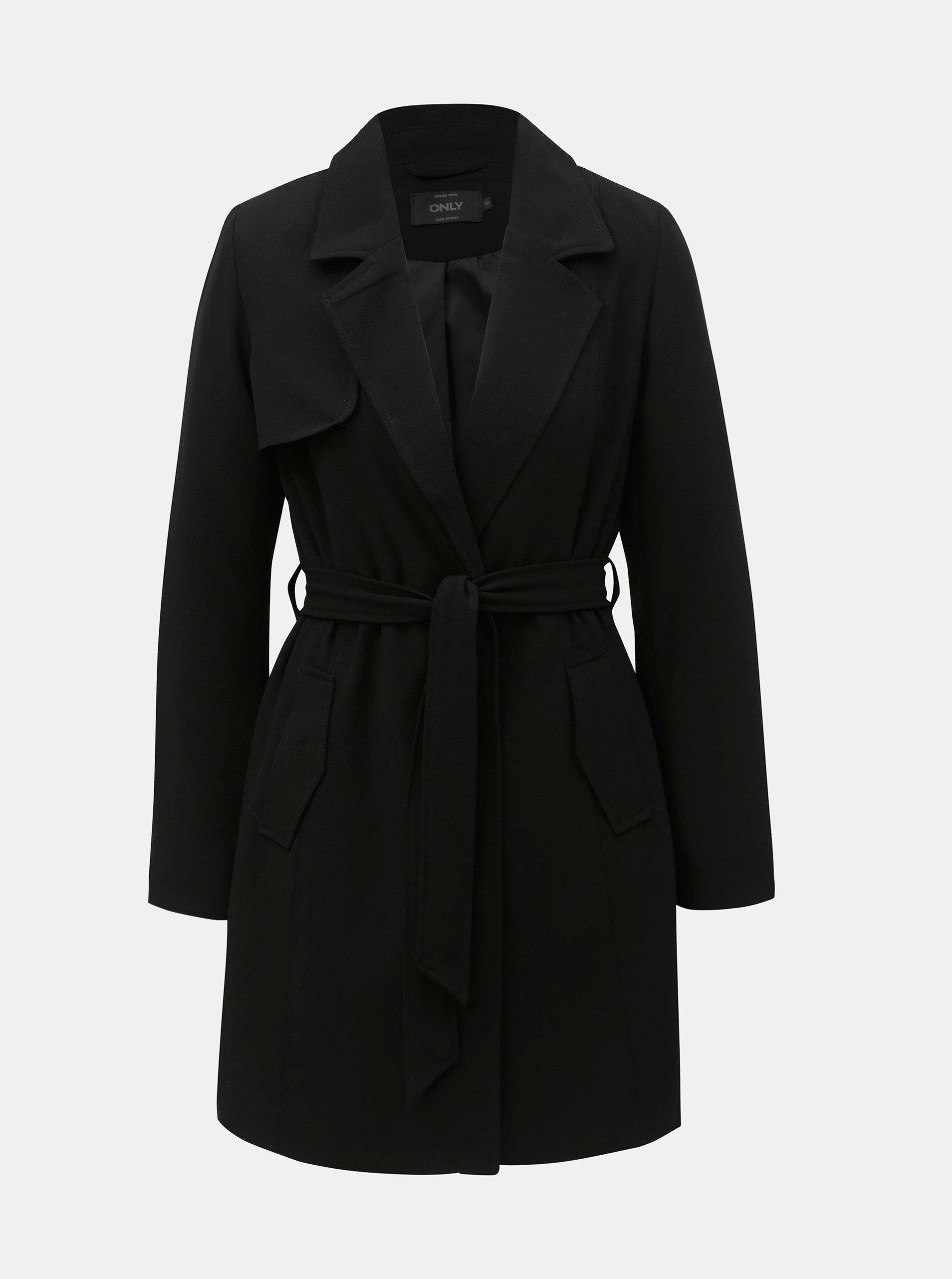 Černý lehký kabát ONLY Jane