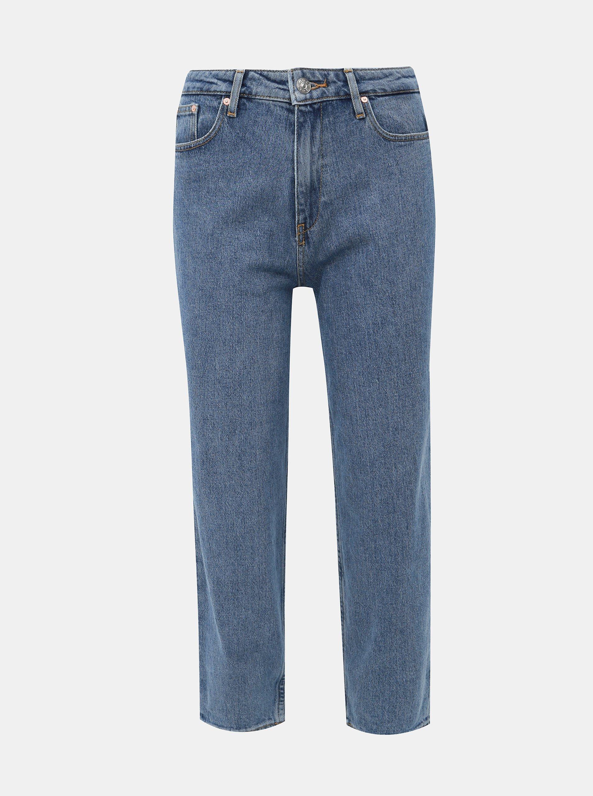 Modré zkrácené mom džíny ONLY Kelis ONLY