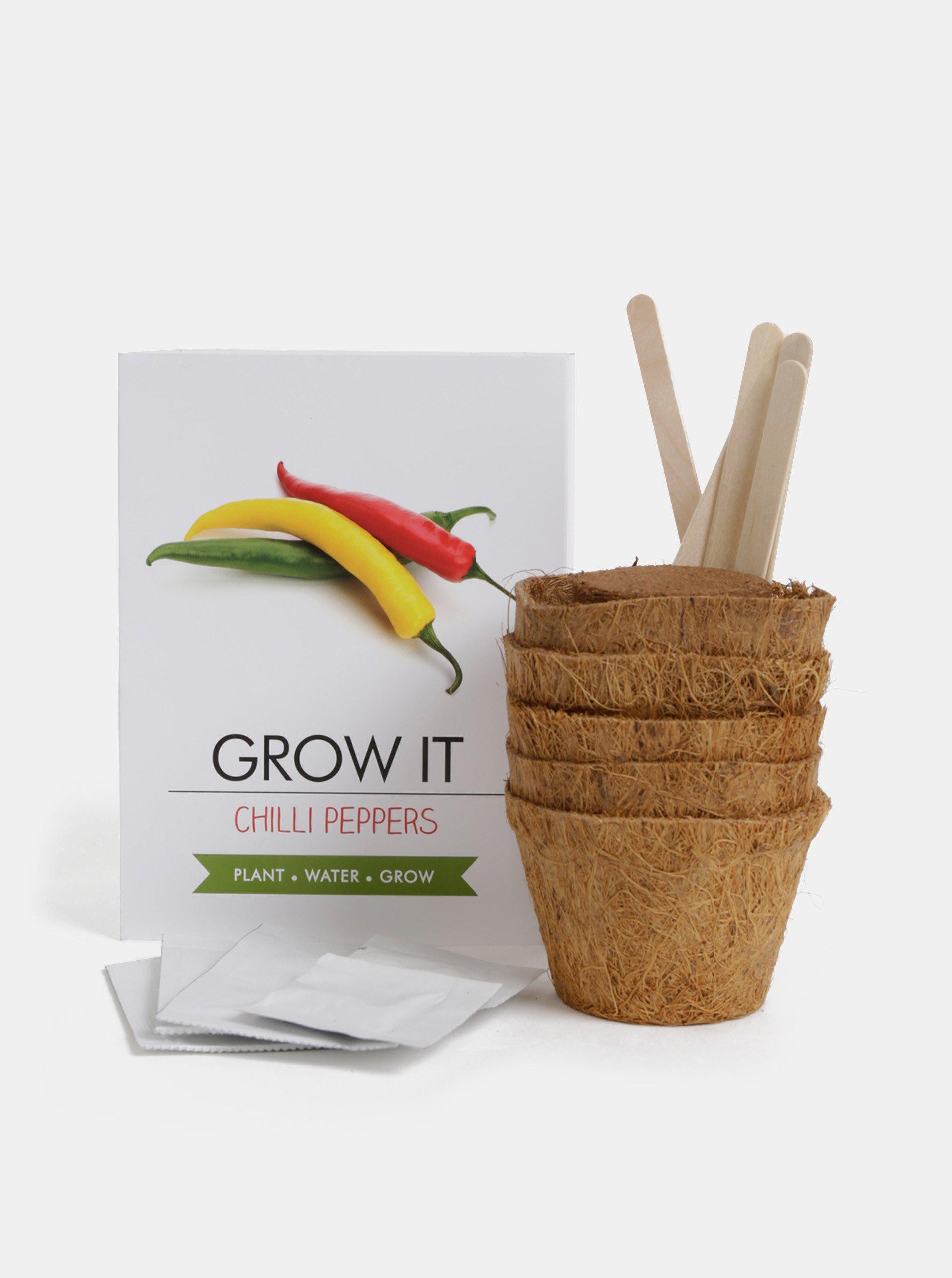 Súprava na vypestovanie chilli papričiek Gift Republic Grow it