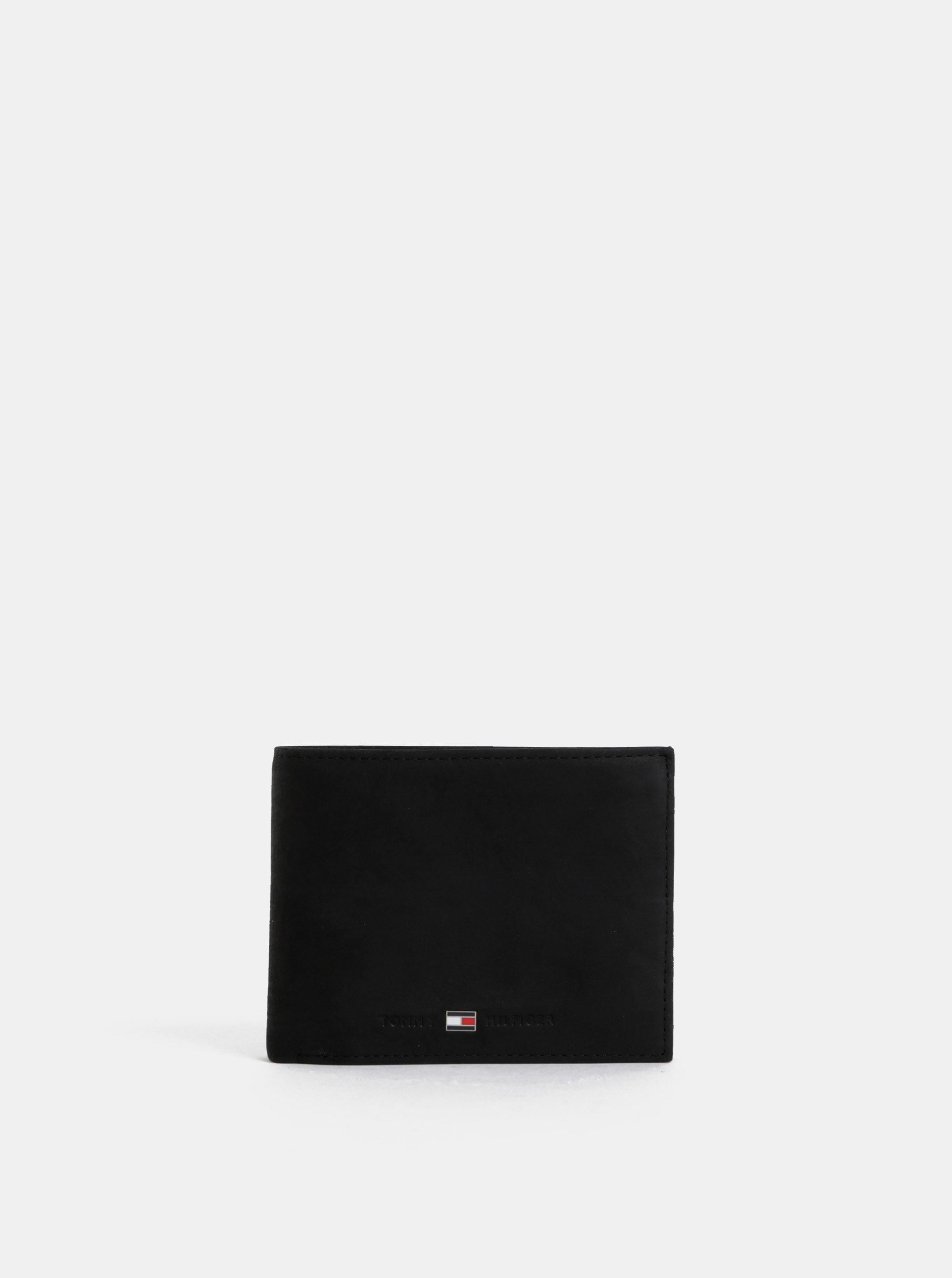 Čierna pánska kožená peňaženka Tommy Hilfiger Johnson