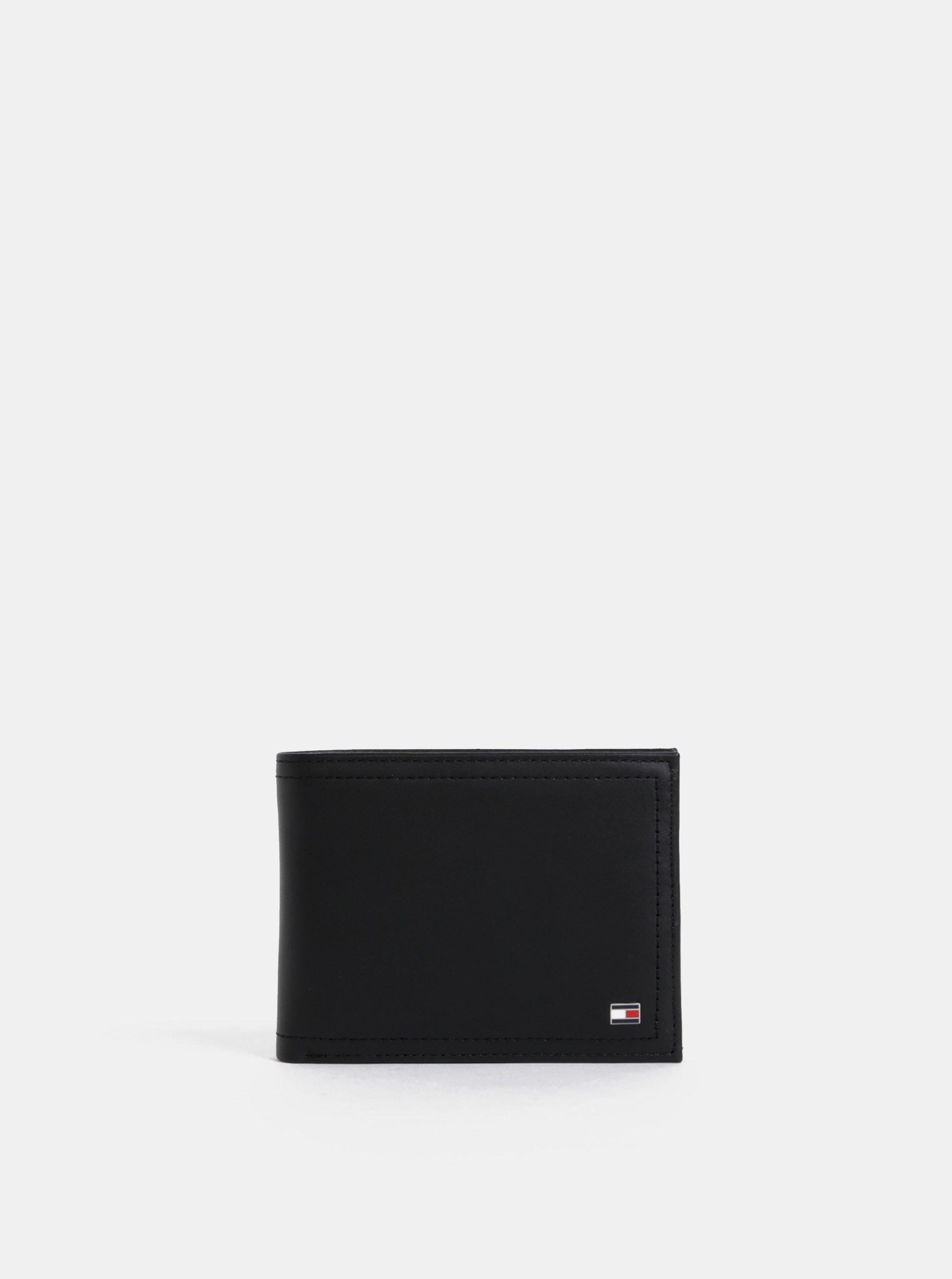 Čierna pánska kožená peňaženka Tommy Hilfiger Harry