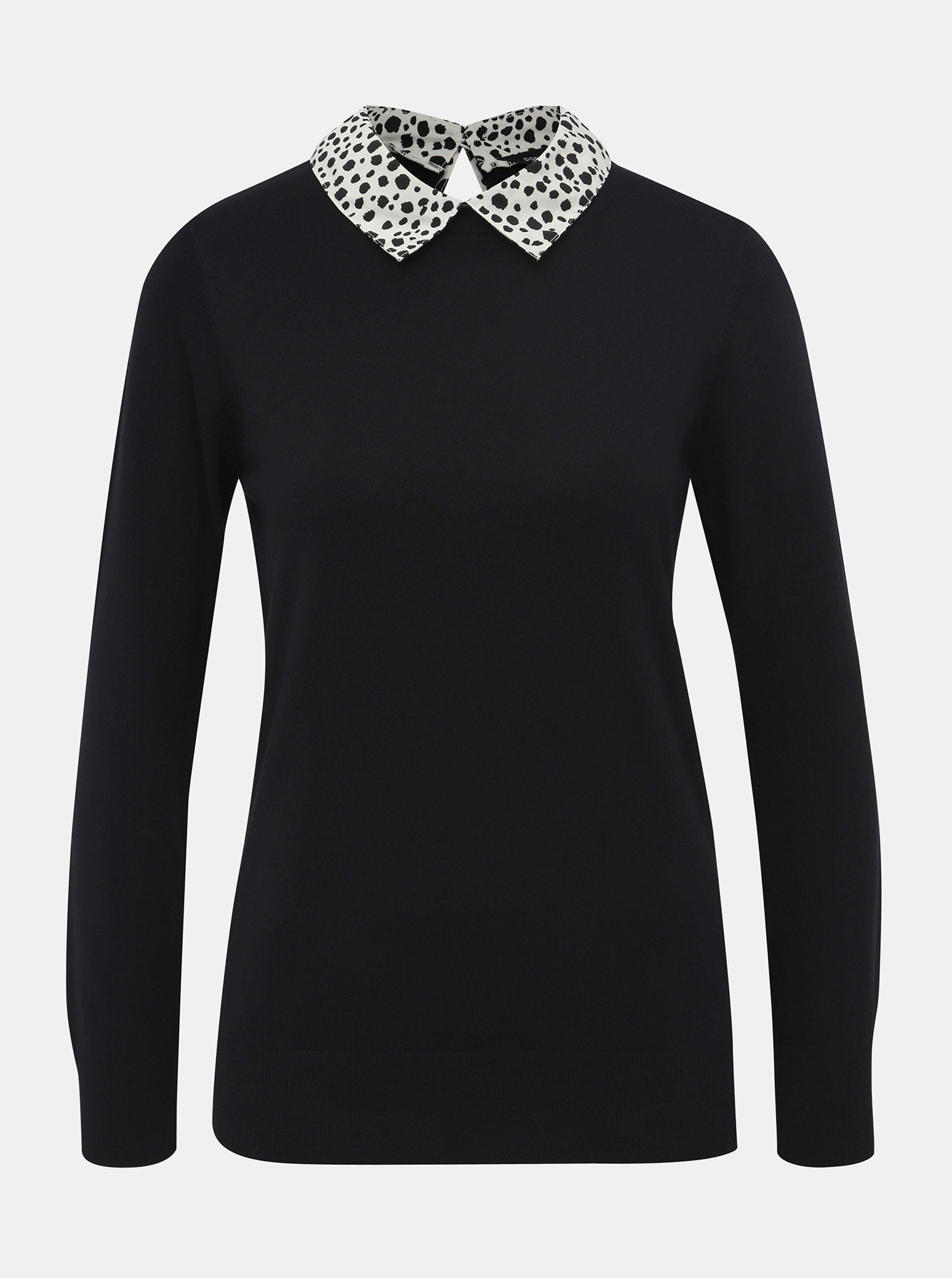 Čierny sveter s limcom Dorothy Perkins