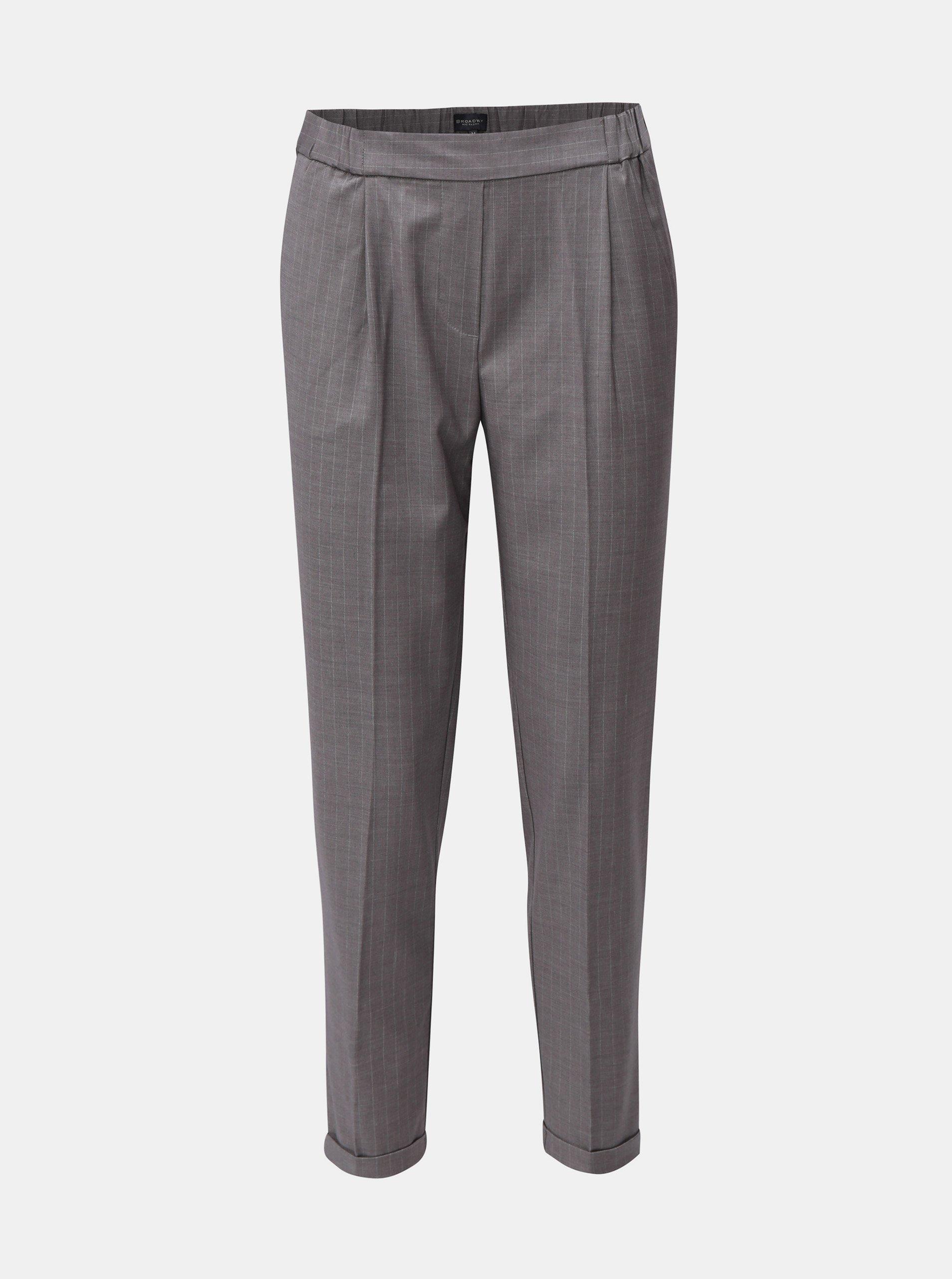 Sivé dámske pruhované nohavice Broadway Danelle