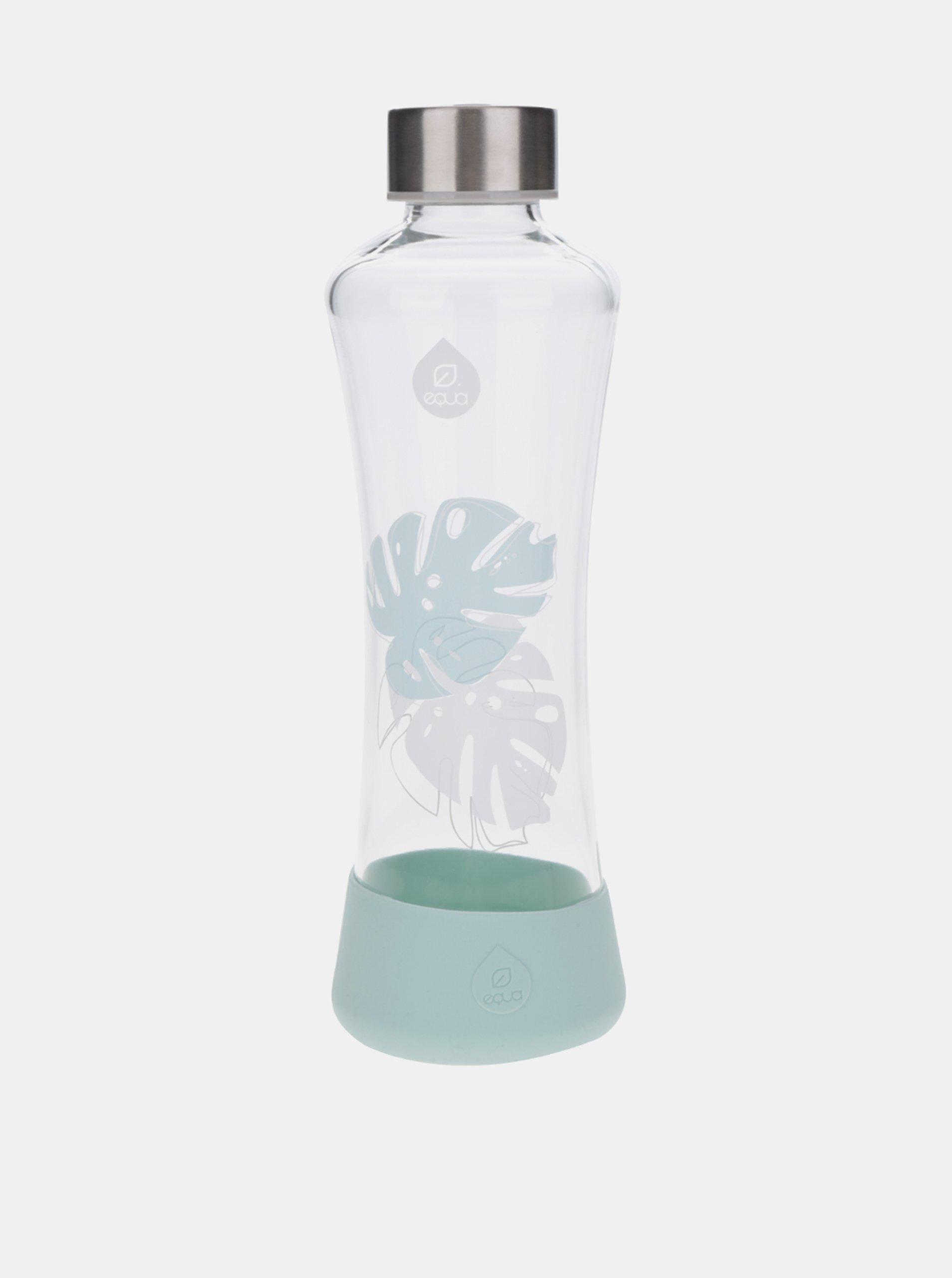 Sklenená fľaša s motívom listov EQUA Monstera (550 ml)
