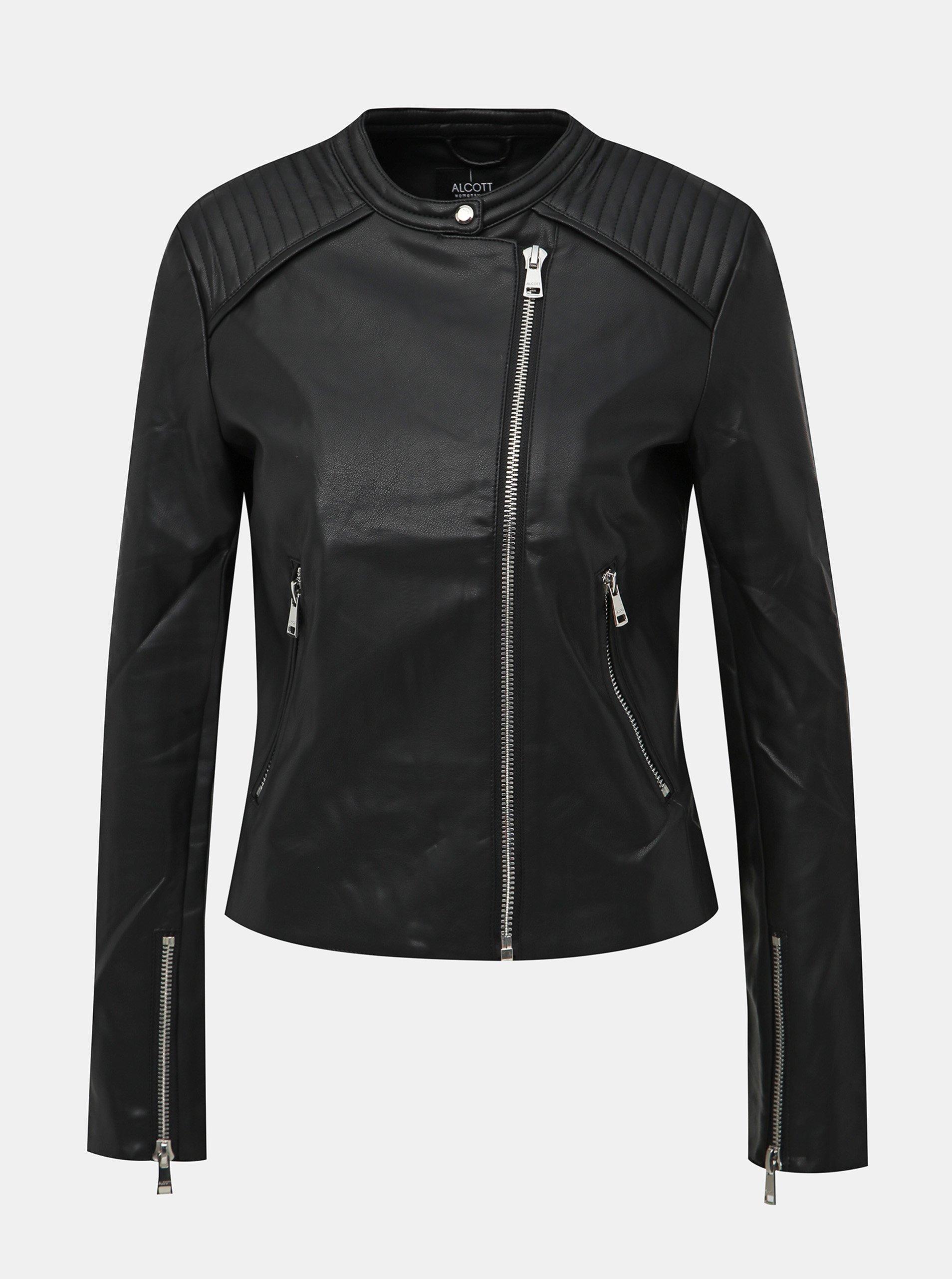 Čierna dámska koženková bunda Alcott