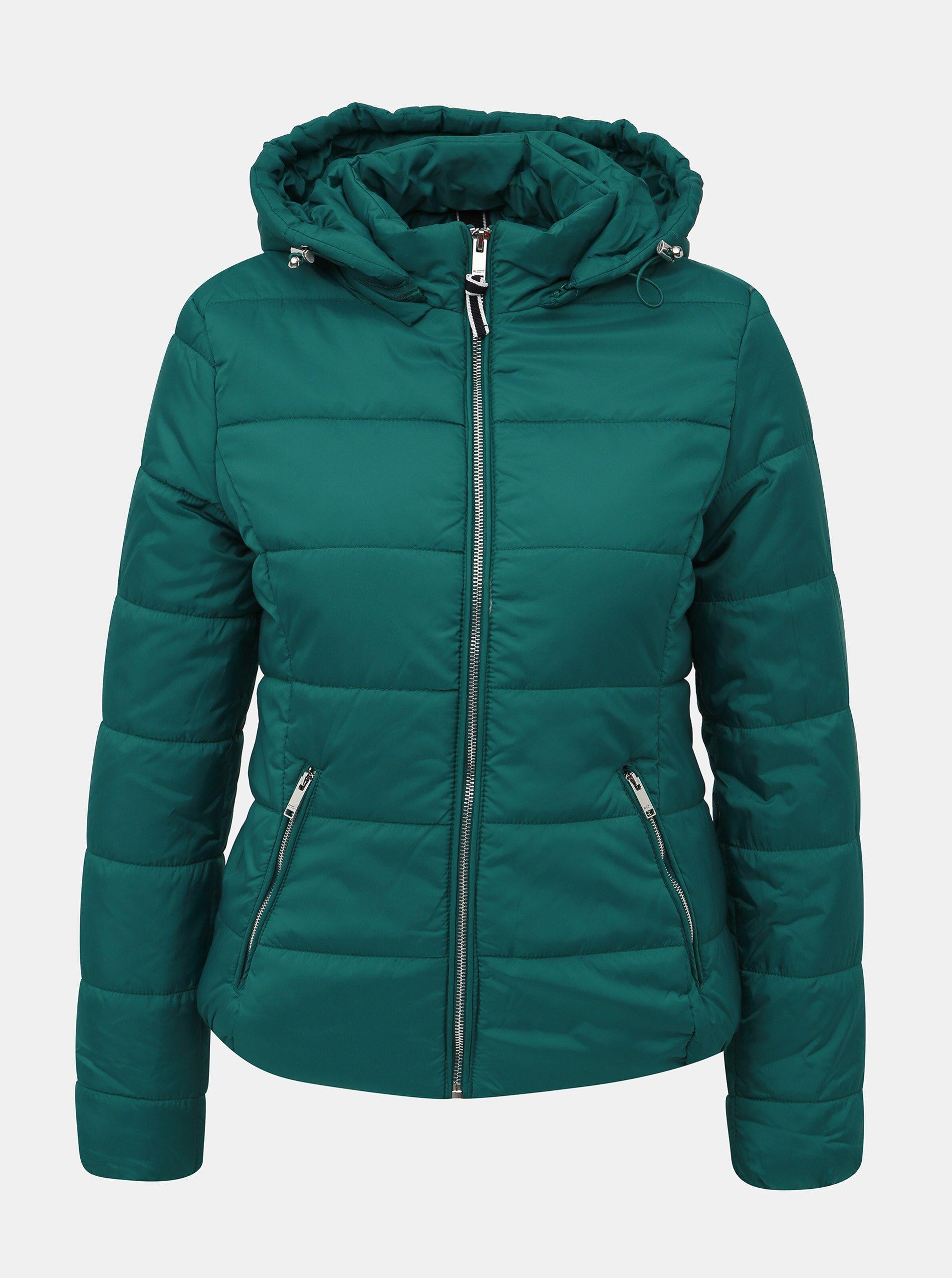Zelená dámska zimná bunda Alcott