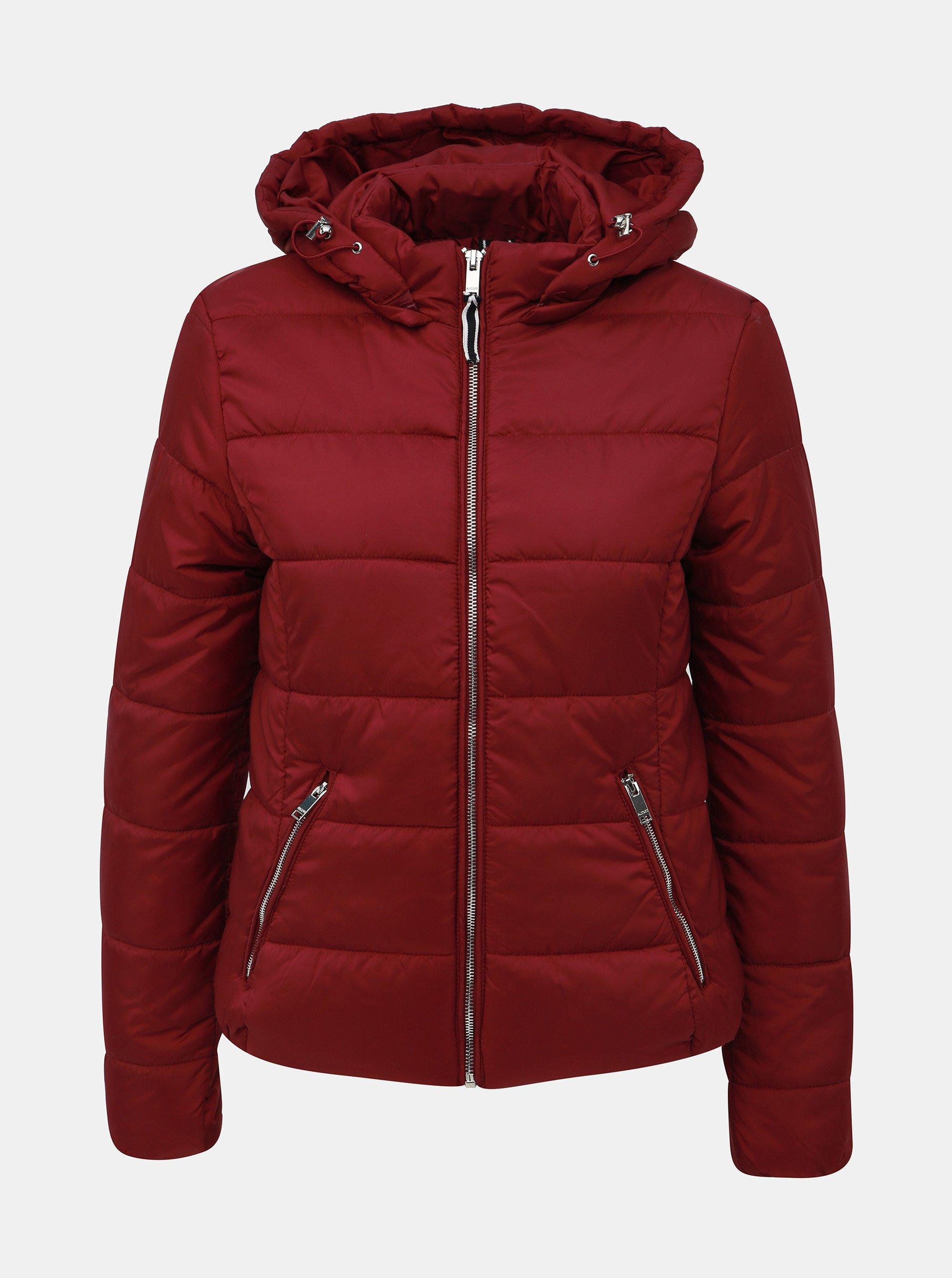 Vínová dámska zimná bunda Alcott