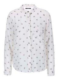 Bluză albă cu imprimeu Haily's Kitty Cat