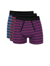 Set de boxeri multicolori cu dungi Burton Menswear London - 3 perechi