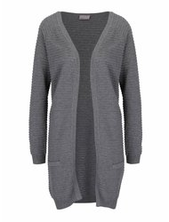 Cardigan lung gri melanj Vero Moda Forever