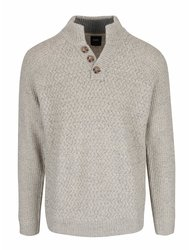 Pulover gri & crem Burton Menswear London cu model discret