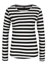 Bluză alb cu negru Haily´s Tina în dungi