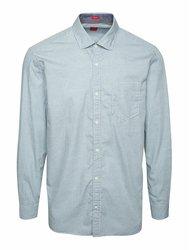Světle modrá pánská regular fit košile se vzorem a kapsou s.Oliver