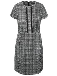 Bílo-černé vzorované šaty s volánky Dorothy Perkins
