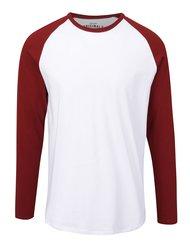 Bílé triko s červeným rukávem Jack & Jones Stan