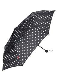 Čierny dámsky bodkovaný dáždnik s.Oliver