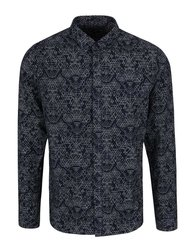 Tmavě modrá košile s bílým vzorem ONLY & SONS Ebbe