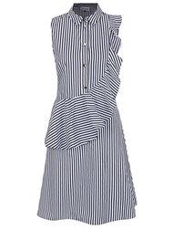 Modro-biele pruhované šaty Closet