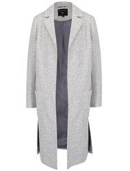 Svetlosivý melírovaný kabát s rozparkami Dorothy Perkins