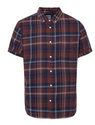 Hnedá kockovaná košeľa Burton Menswear London