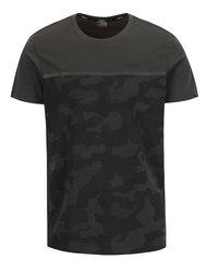 Tmavosivé maskáčové tričko Jack & Jones Camo