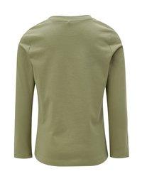 Khaki holčičí tričko s dlouhým rukávem a výšivkou name it Kammia - 1