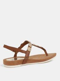 Hnědé sandály s detaily ve zlaté barvě Tamaris - 1