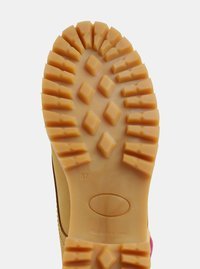 Růžovo-hnědé kožené kotníkové boty se semišovými detaily OJJU - 2