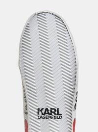 Černé kožené kotníkové tenisky s nášivkou a potiskem KARL LAGERFELD Skool - 2