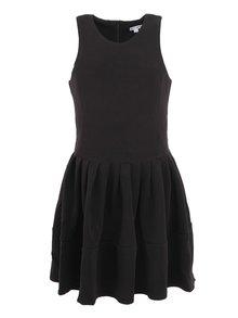 Černé minimalistické šaty bez rukávu Kling Odette