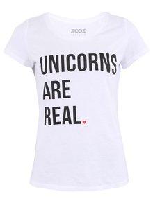 Biele dámske tričko ZOOT Originál Unicorns Are Real