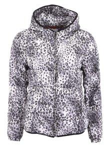 Černo-bílá leopardí prošívaná bunda b.young Hailey