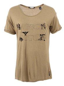 Olivovozelené dlhé tričko Maison Scotch