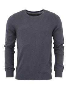 Tmavě šedý lehký svetr Bertoni
