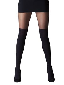 Dres negru cu model peste genunchi Gipsy