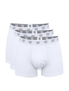 Sada tří boxerek v bielej farbe CR7