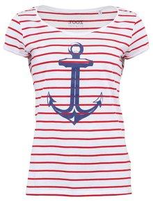 Bílo-červené dámské tričko s kotvou ZOOT Originál Kotva