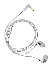 In-ear sluchátka v stříbrné barvě Happy Plugs