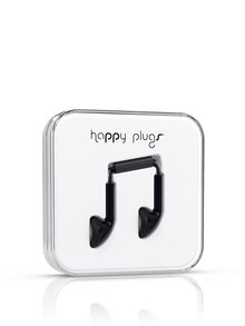 Căști Happy Plugs negre