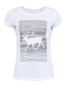 Tricou alb ZOOT Original Reindeer Print din bumbac