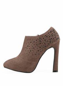 Béžové sexy boty Victoria Delef s kamínky