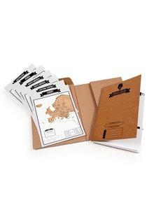 Cestovný denník so stieracími mapami Luckies