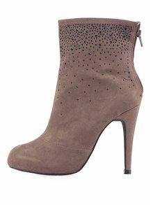 Béžové kotníkové boty s kamínky Victoria Delef