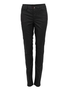 Černé kalhoty s koženkovým efektem VERO MODA Wonder