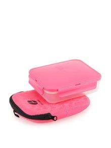 Ružový box na sandwich Prêt à Paquet