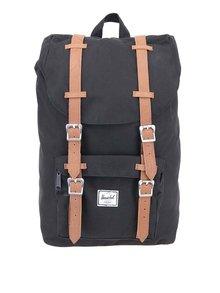 Černý menší batoh s přední kapsou Herschel Little America 17 l