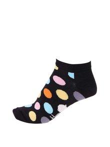 Čierne unisex členkové ponožky s bodkami Happy Socks